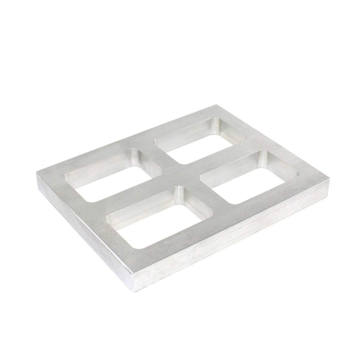 "Aluminum Quad Mold Frame - 3/4"" x 1-7/8"" x 2-7/8"""