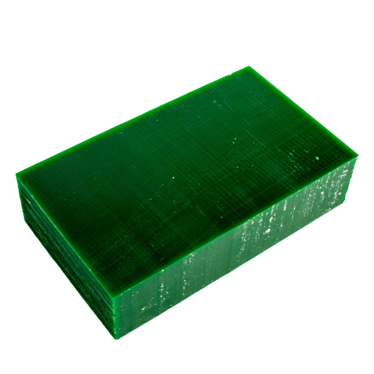 "File-A-Wax Block - Green - Carving Wax 1lb Box 3-5/8"" x 6"" x 1-1/2"" Thick"