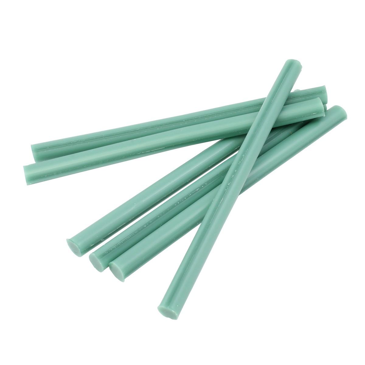 """Wax Sprue Rods 6 x 3/8"""" Super Stiff- Light Green - 44 rods per lbs."""