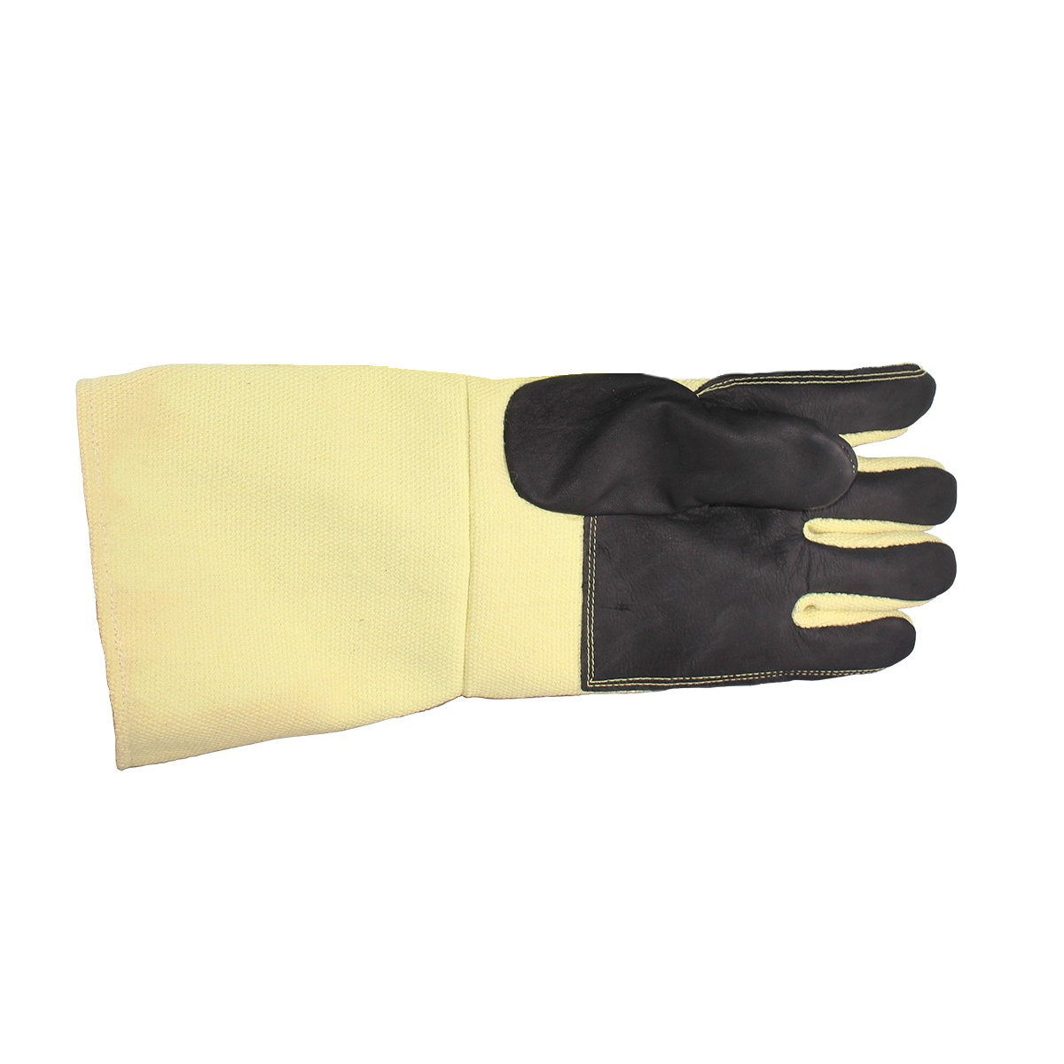 """18"""" Yellow Non-Asbestos Leather Palm Left Hand Glove"""