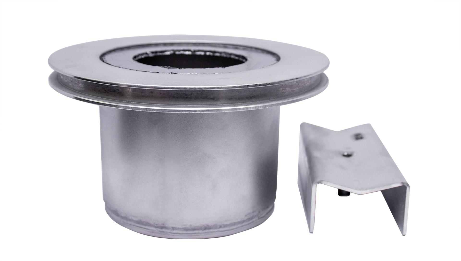 Indutherm VTC200/100V 90mm Flask Adaptor 3-Pieces Set