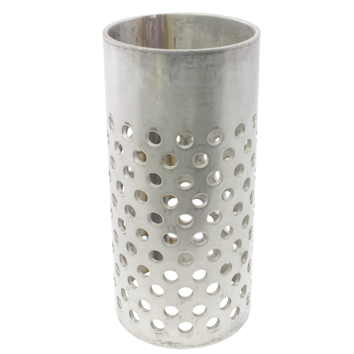 """Stainless Steel Perforated Flask - 4"""" x 6"""" - No Flange"""