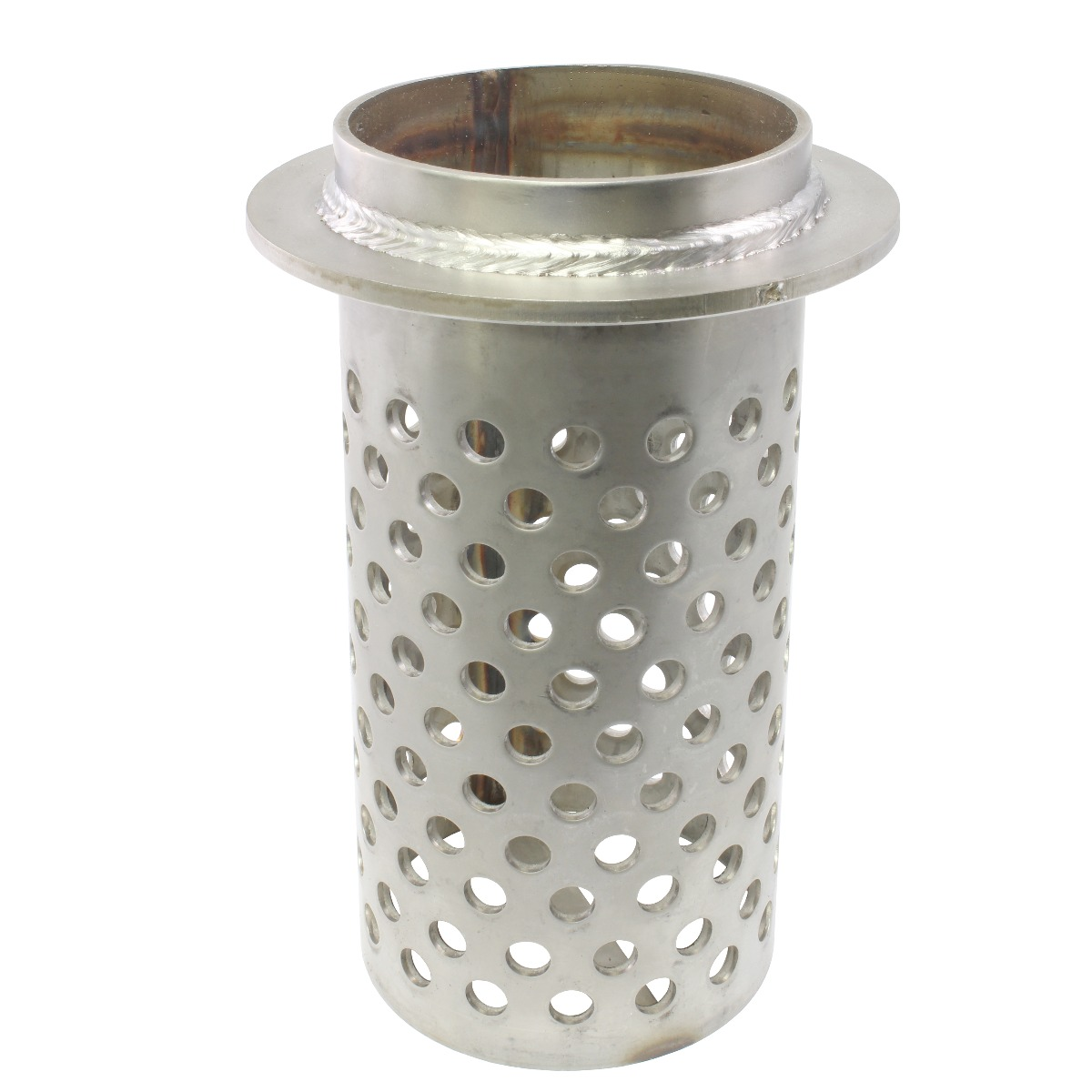 "Stainless Steel Perforated Flask - 4"" x 6"" - With Flange"