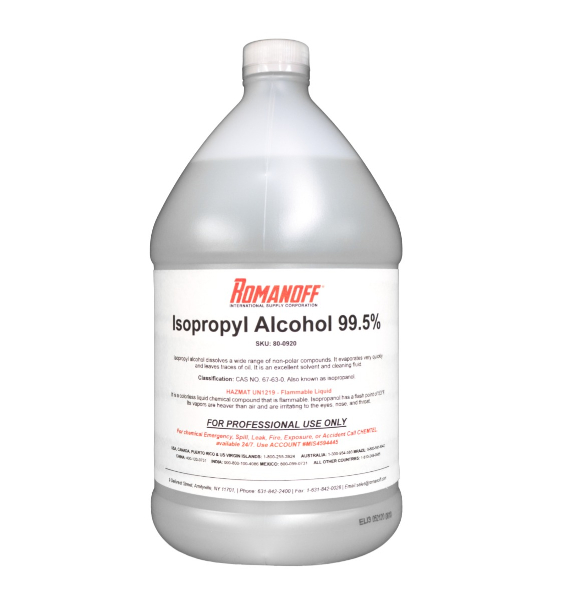 Isopropyl Alcohol, 99.5% 1-Gallon