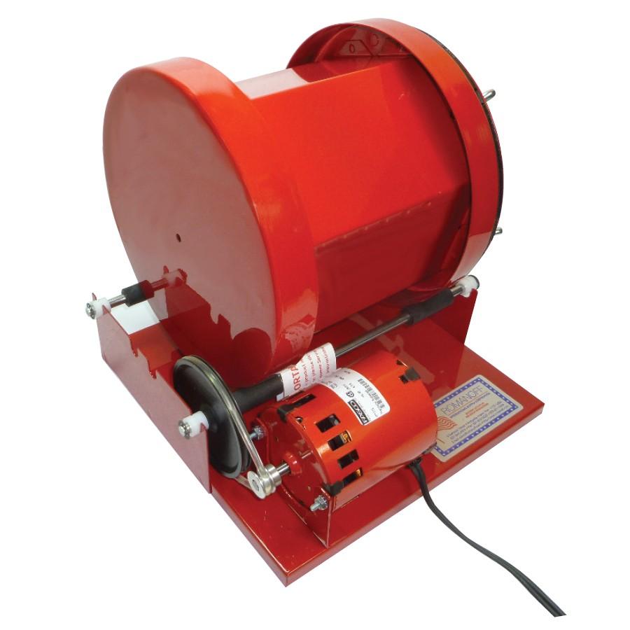Red Rotary Barrel Tumbler