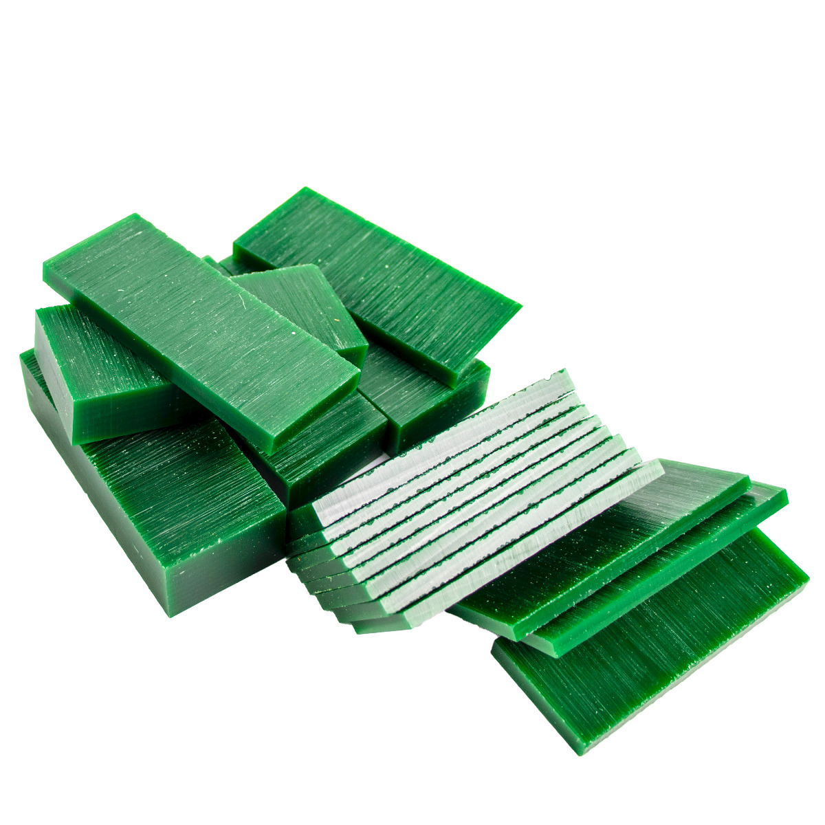 """File-A-Wax Assorted Slices - Green - 1lb Box 3/16 """"- 1"""" Thick (4.77mm - 25.4mm)"""