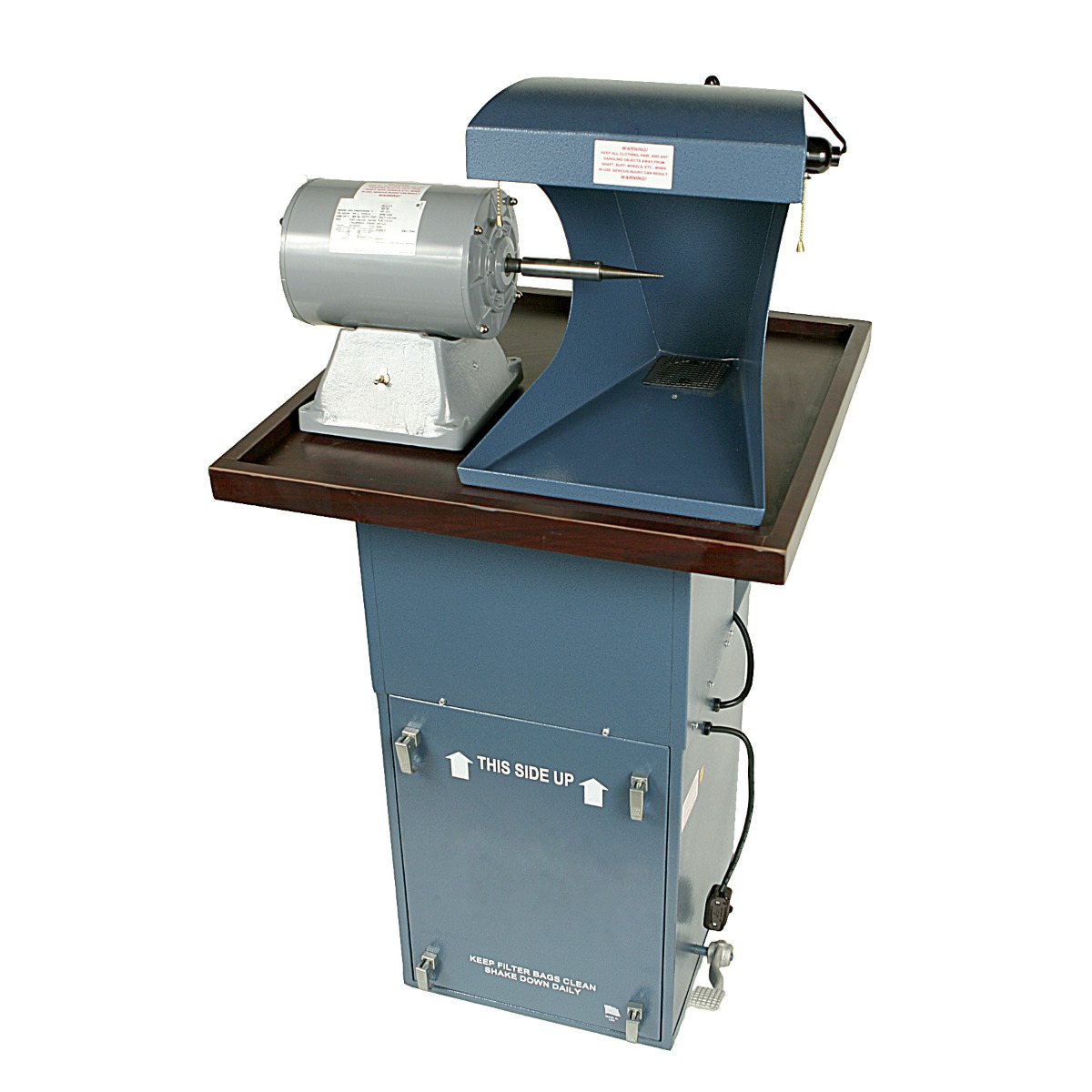 Polishing Station - 1/2 HP Dust Collector, 3/4 HP Single Spindle Polishing Motor