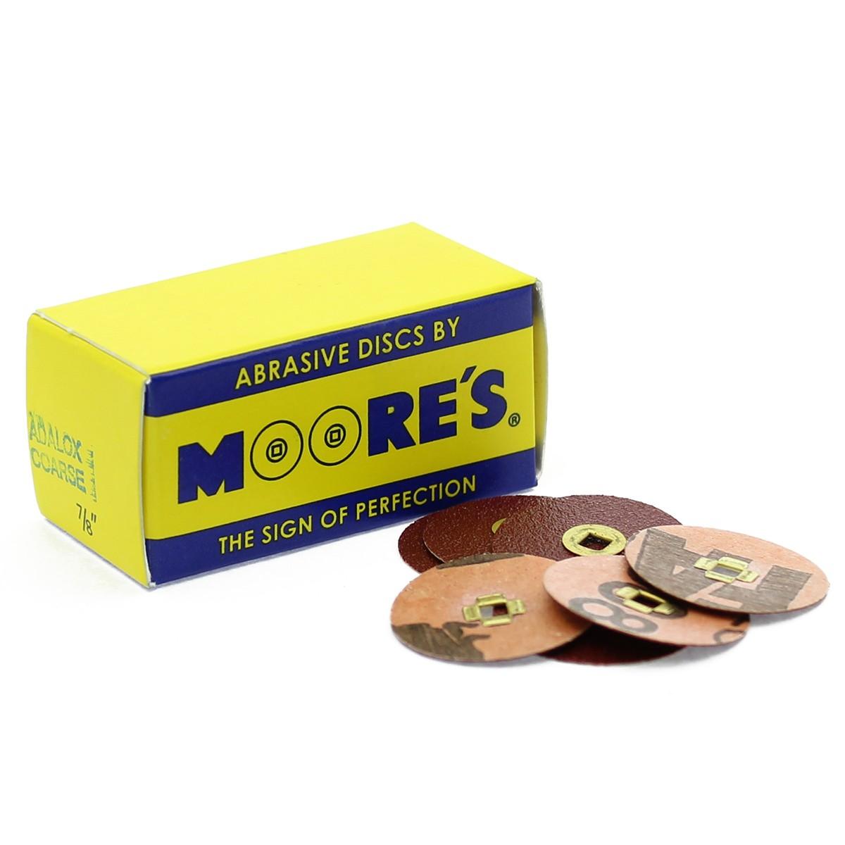EC Moore's Sanding Disc - Adalox, Brass Center - Coarse/Red