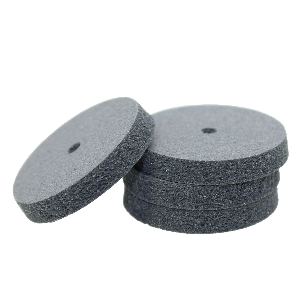 """Gray Rubber Wheels - Grey """"Most Popular"""", Square Edge 235 Grit"""