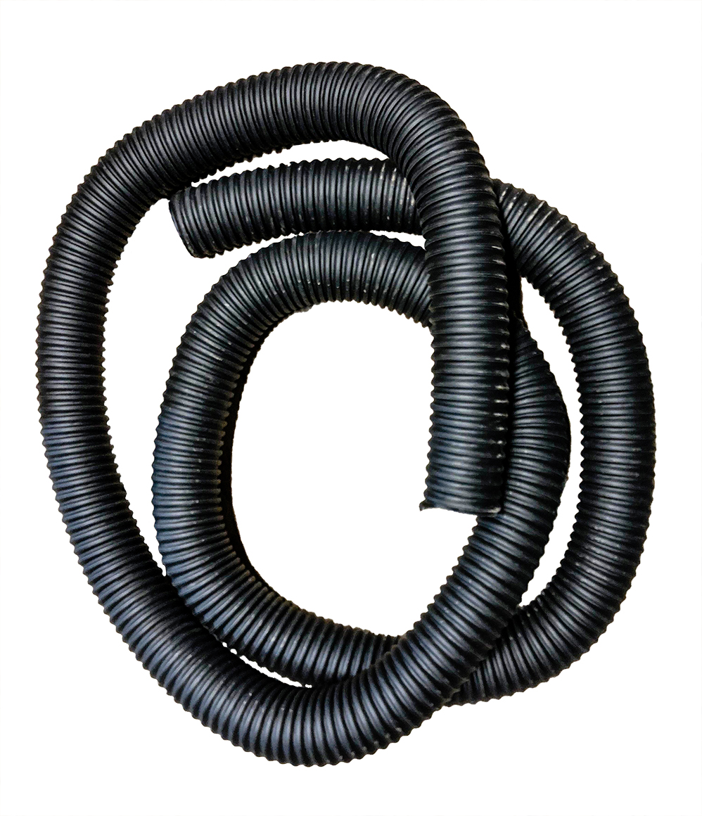 "3"" Black Reinforced Heavy Duty Dust Collector Hose (12' Lengths)"