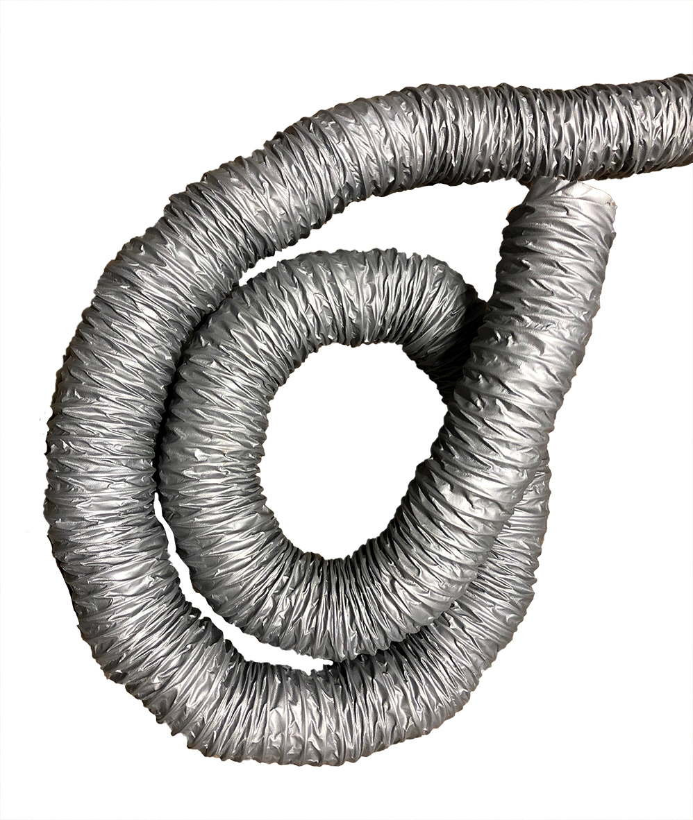 "3"" Gray Reinforced Dust Collector Hose (12' Lengths)"