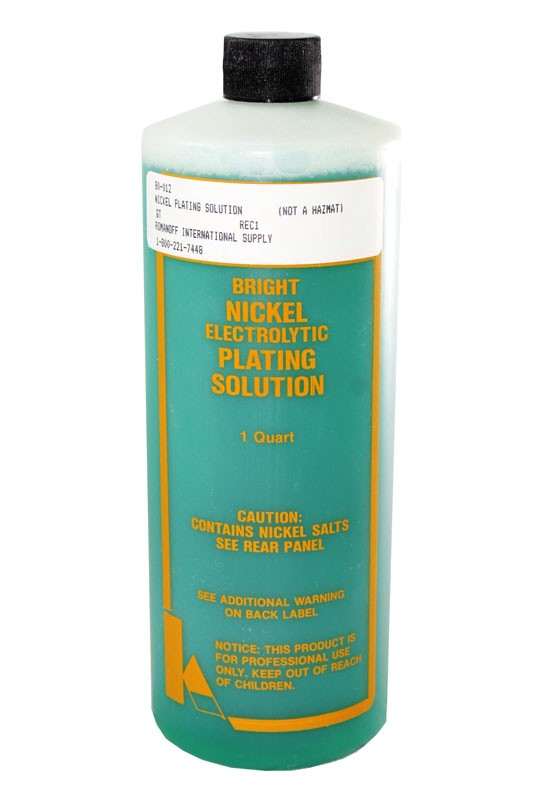 Bright Nickel Bath Plating Solutions - 1 Liter