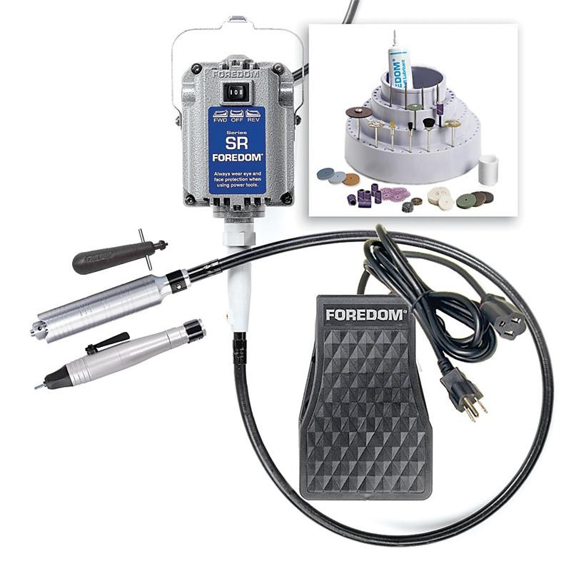 Foredom Deluxe SR Motor Flex Shaft System With H.20 & H.30 Handpieces