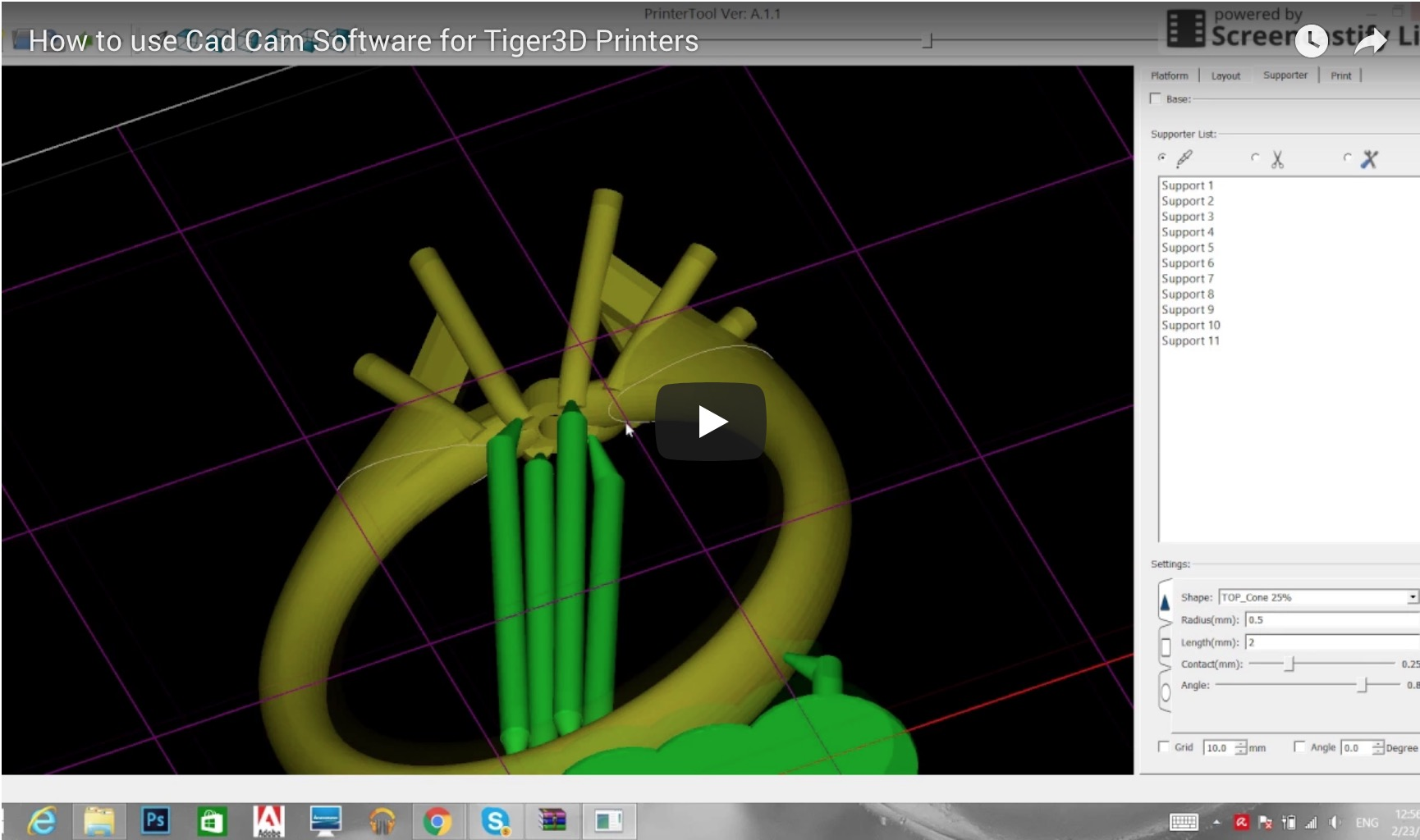 How to use Cad Cam Software for Tiger3D Printers