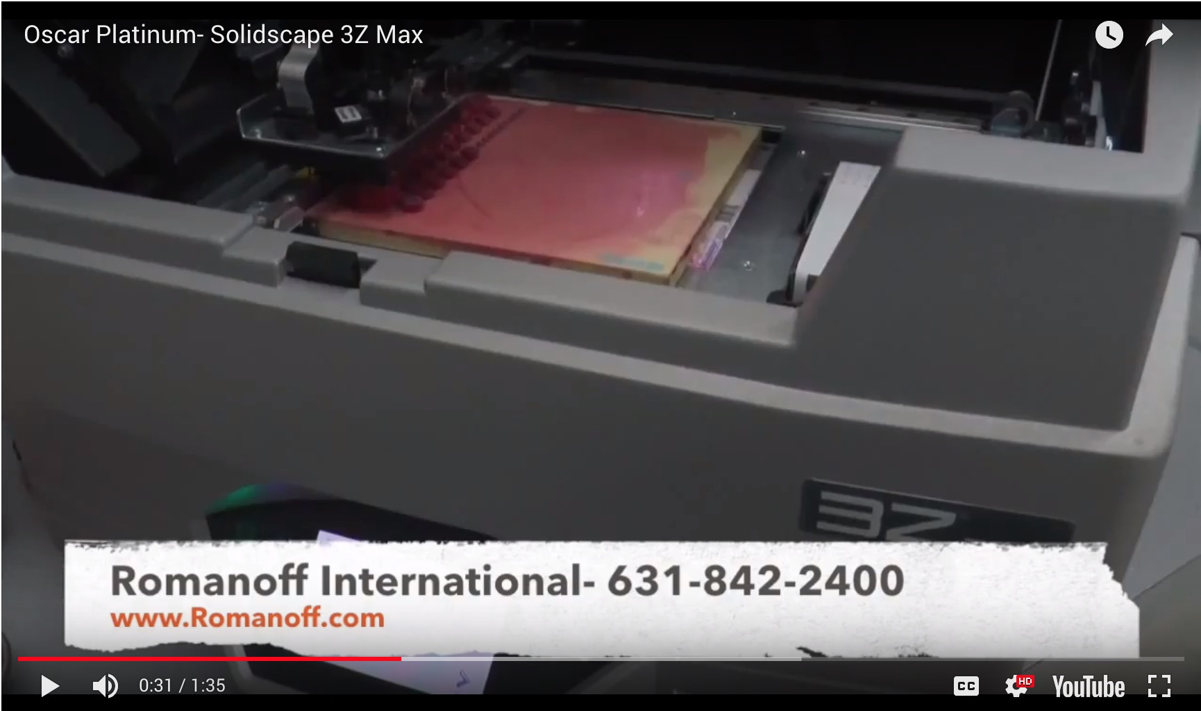 Oscar Platinum - Solidscape 3Z Max