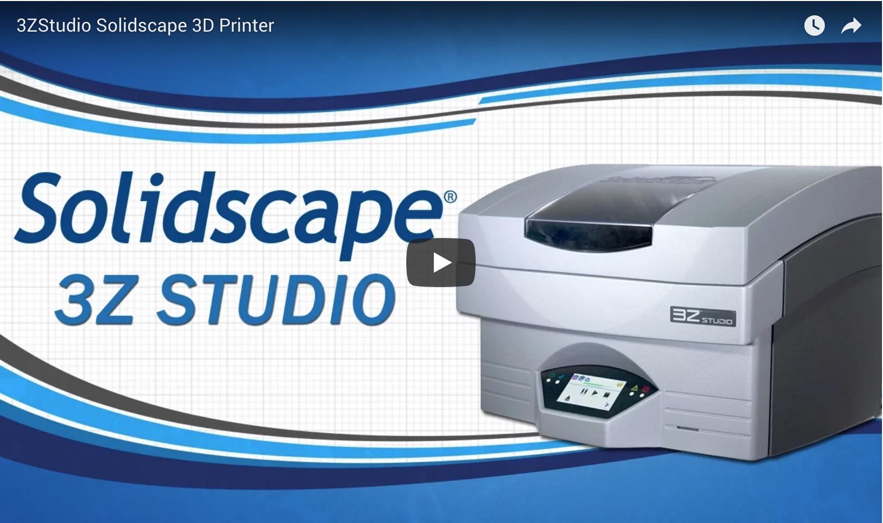 3ZStudio Solidscape 3D Printer
