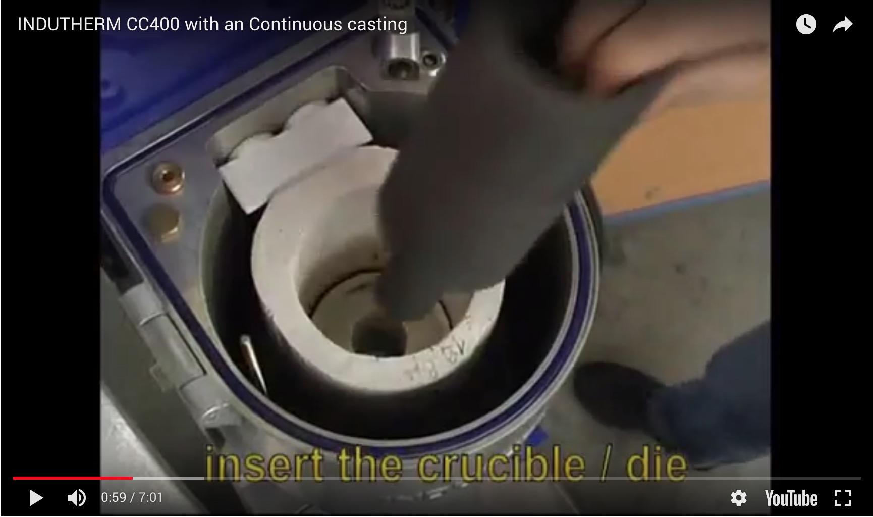 Indutherm CC400 Continuous Casting Machine