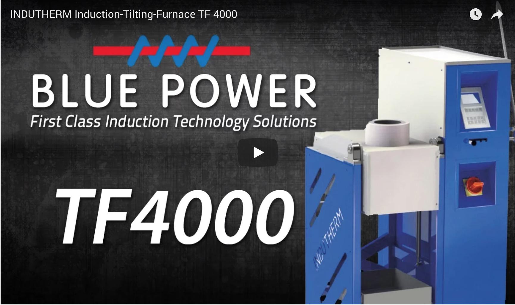 Indutherm Induction Tilting Furnace TF4000