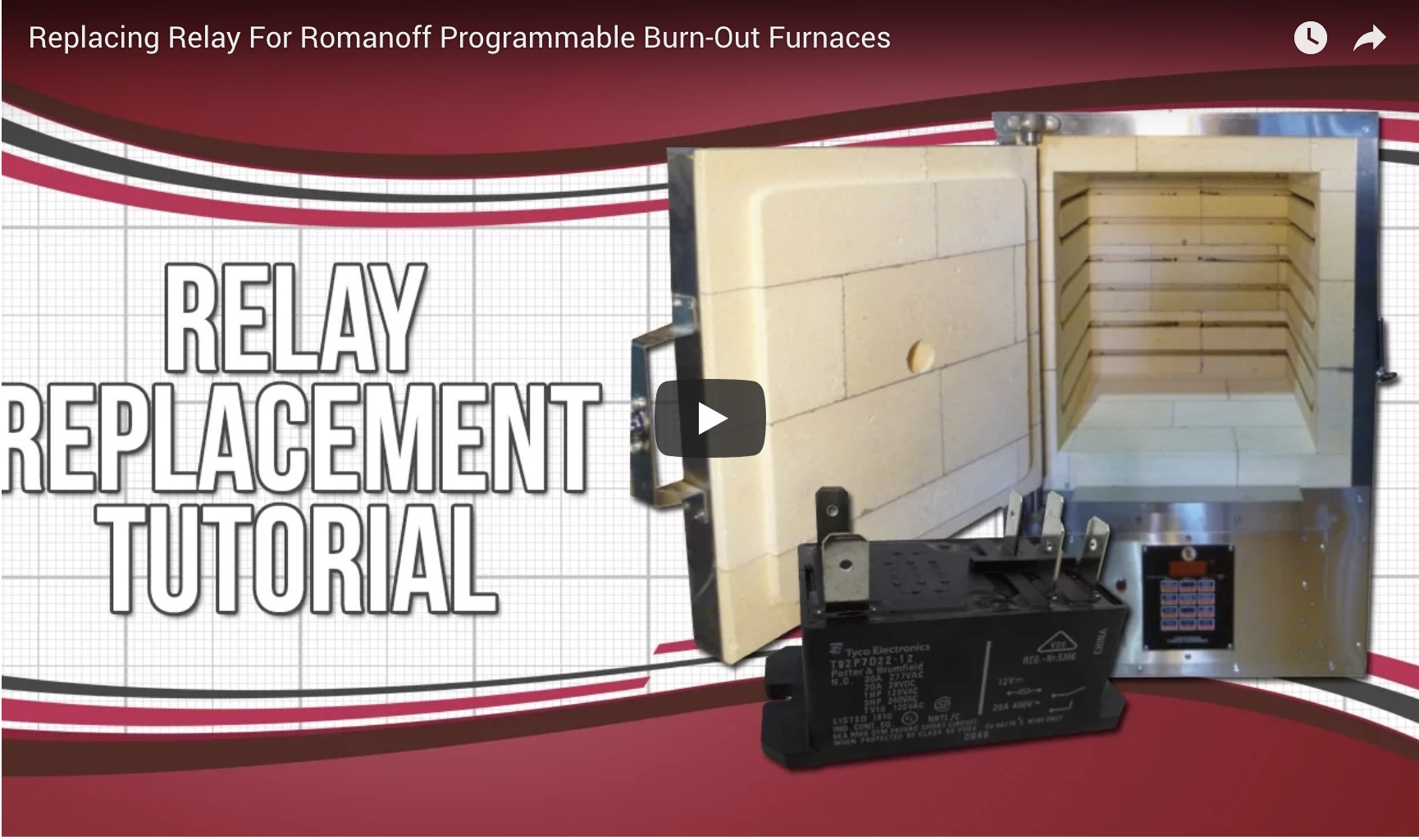 Replacing Relay For Romanoff Programmable Burn-Out Furnaces