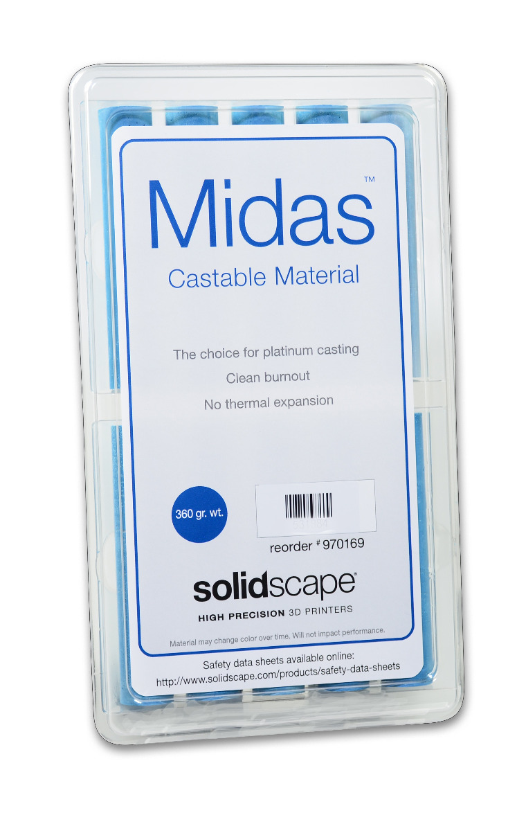 Solidscape Midas Castable Material Package