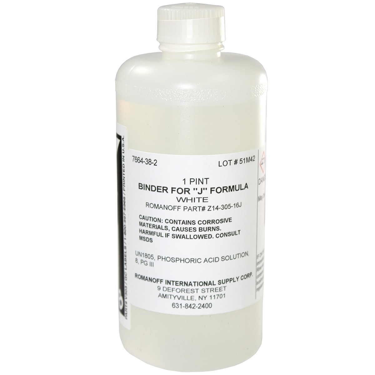 J-Formula Original White Label Binder Only - 16oz